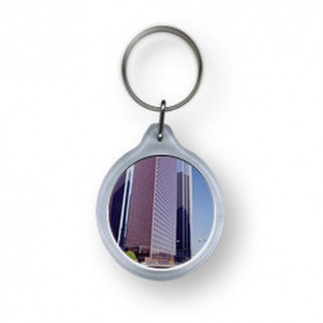 Schlüsselanhänger mit vollfarbigem Druck, Werbemittel, Werbeartikel
