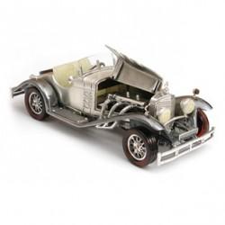 Automodell mit Bernstein und Echtleder